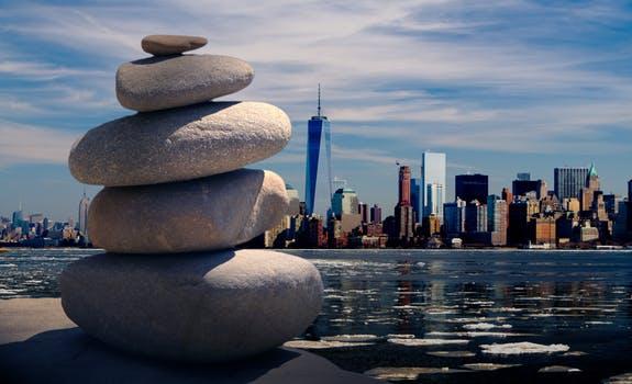 ZEN stones seeing giant metropolis