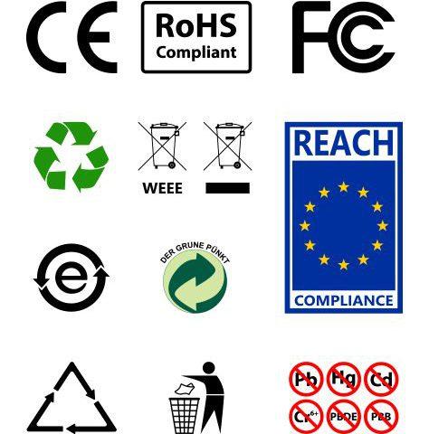 Ce marking RoHs Weee REACH compliance